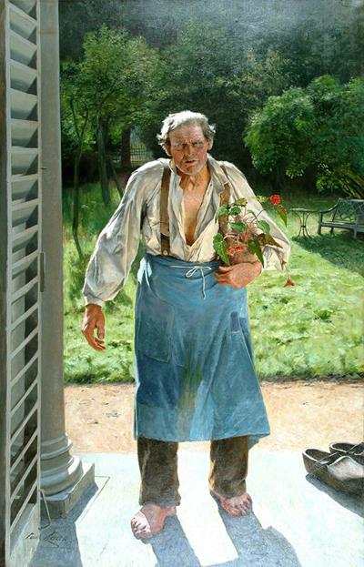 Émile Claus, Le Vieux Jardinier, 1885, Huile sur toile ©Liège, Musée des Beaux-Arts / La Boverie